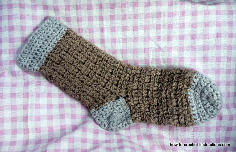 crochet bed sock