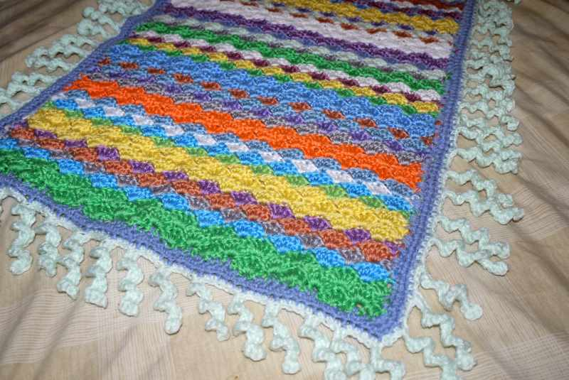 curly edged blanket