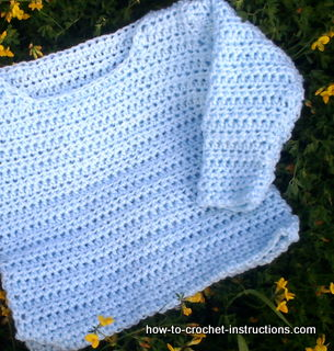 Crochet Jumper Patterns Uk : Easy to Crochet Baby Sweater Pattern