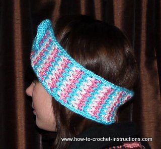 Instructions On How To Crochet : Free Pattern Instructions for ear warmers
