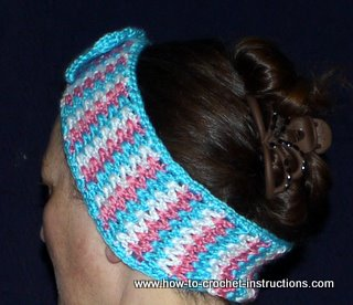 striped ear warmer